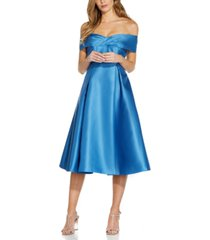 adrianna papell off-the-shoulder dress