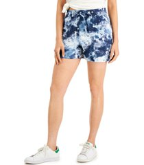 style & co tie-dyed pull-on shorts, created for macy's