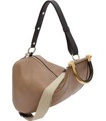 jw anderson wedge shoulder bag - brown