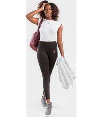 brendai rose race-stripe leggings - black