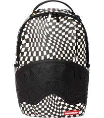 sprayground trippy check dlx backpack - black  910b3621-ch
