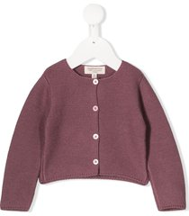 cashmirino button knit cardigan - purple