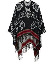 poncho freedom reversible poncho regnkläder svart desigual accessories
