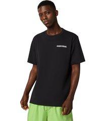 converse camiseta de manga corta groovy black