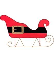 """mr. christmas 30"""" indoor/outdoor metal sleigh- santa belt"""