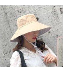 nuevo sombrero protector solar para mujer-caqui