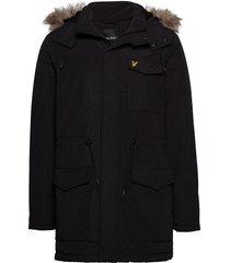 winter weight microfleece jacket parka jas zwart lyle & scott