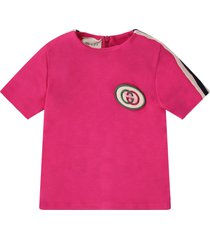 gucci fucshia babygirl dress with iconic gg