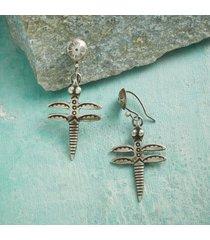 sterling dragonfly earrings