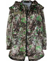 mr & mrs italy blossom camouflage-print parka - green
