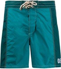 diesel two tone swim shorts - green