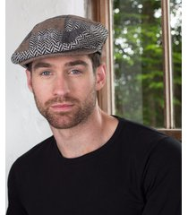 mens tweed patchwork cap small