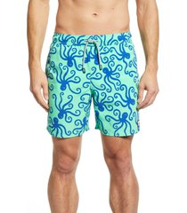 men's tom & teddy 'octopus pattern' swim trunks
