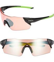 women's smith attack 125mm chromapop(tm) polarized shield sunglasses -