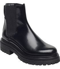 alpha chelsea-c shoes boots ankle boots ankle boot - flat svart hugo