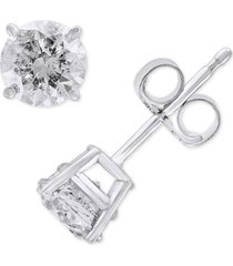 effy diamond stud earrings (1 ct. t.w.) in 14k white gold