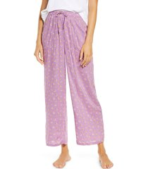 women's bp. katie crop pajama pants, size x-large - purple