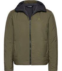 outrack insulated hoodie m fodrad jacka grön salomon