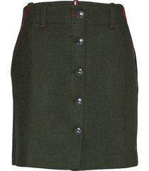 luitgard mini skirt kort kjol grön tommy hilfiger