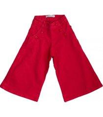 jeans lis rojo maría pompón