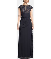 b & a by betsy & adam lace cutout-top gown