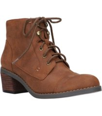 bella vita sarina lace up booties women's shoes