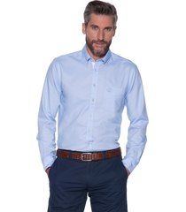 campbell casual shirt met lange mouwen licht blauw