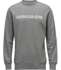 core institutional logo sweatshirt sweat-shirt tröja grå calvin klein jeans