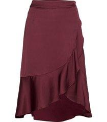 beth skirt knälång kjol röd by malina