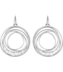orecchini in ottone rodiato e cristalli per donna