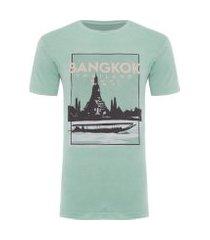 camiseta masculina bangkok - verde