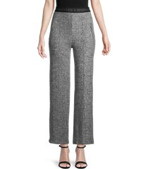 the kooples women's logo-waist pants - grey - size 3 (l)