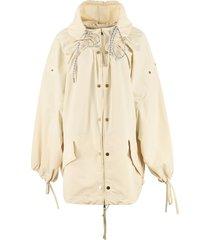 amaranth nylon windbreaker-jacket