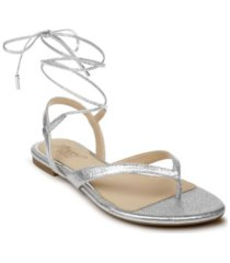 jewel badgley mischka nolana dress thong flat sandal women's shoes