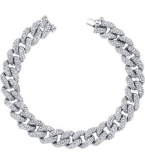 essential pavé diamond link bracelet