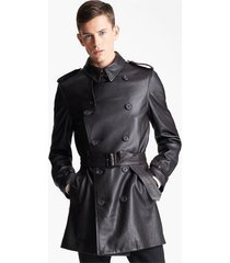 men leather coat winter long  leather coat genuine real leather trench coat-uk21