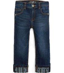jeans denim logo print slim pants denim guess