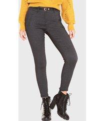 pantalón wados pitillo negro - calce slim fit
