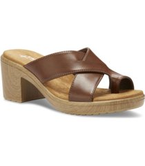 eastland shoe liza heeled women's thong sandal women's shoes