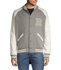 logo colorblock cotton-blend jacket
