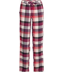 long pants pyjamasbyxor mjukisbyxor röd schiesser