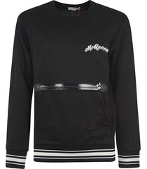alexander mcqueen front zipped sweater