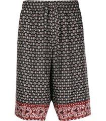 dolce & gabbana bandana print bermuda shorts - black
