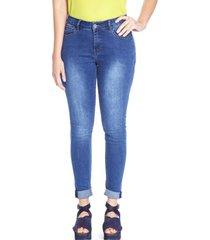 jeans pierna pitillo liso celeste curvi