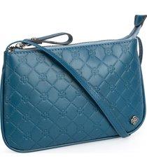 bolsa tiracolo capodarte matelass㪠azul - azul - feminino - dafiti