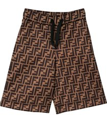 fendi brown bermuda shorts