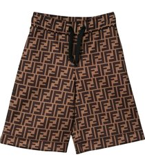 fendi brown bermuda shorts fendi kids