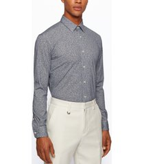 boss men's pique slim-fit shirt