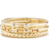 women's david yurman novella 3-row ring with diamonds