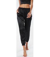 pantalone lungo in seta e lyocell